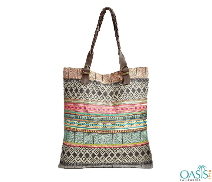 Wholesale Tribal Print Tote Bags Manufacturer and Supplier in USA, Australia, Canada